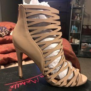 Laser cut dress sandal